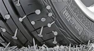 Nails in a tire