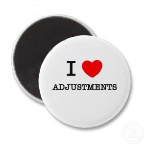 I love adjustments