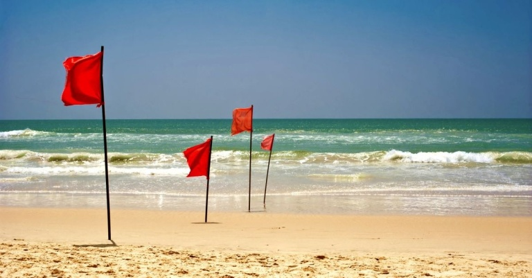 Red flags at beach